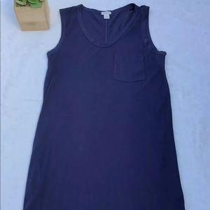 J. Crew XS Navy Sleeveless Cotton Shift Dress